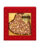 Марципановая конфета Chokodelika Сердце в карамельном шоколаде, 30 гр