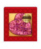 Марципановая конфета Chokodelika Сердце в малиновом шоколаде, 30 гр