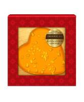 Марципановая конфета Chokodelika Сердце в апельсиновом шоколаде, 30 гр