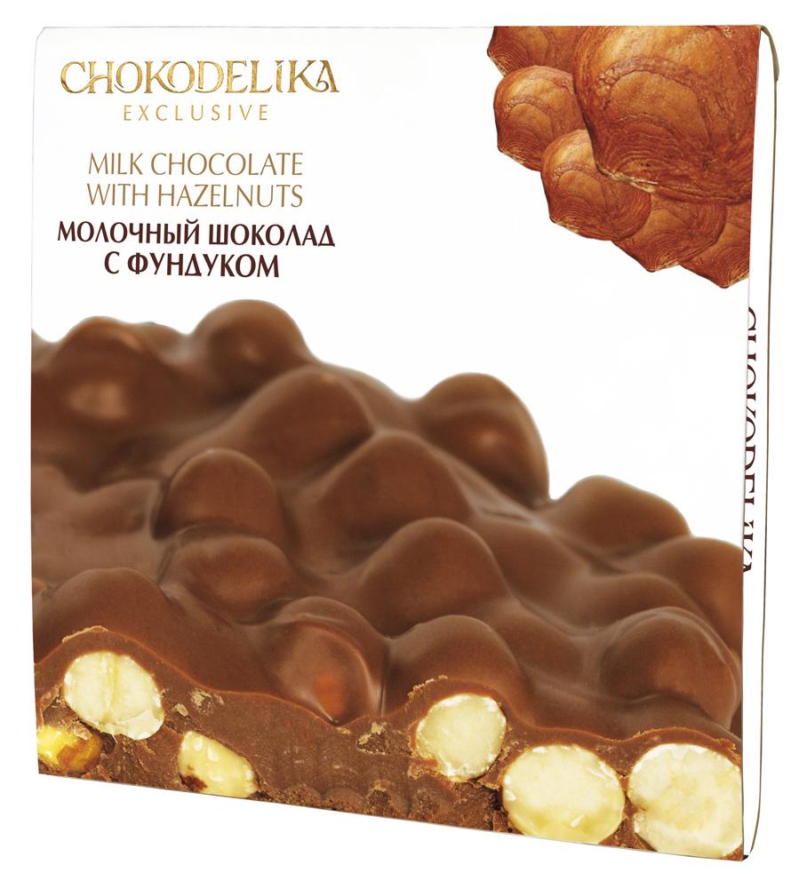 Неровный молочный шоколад с фундуком, 160 гр