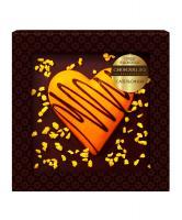 Сердце в шоколаде Апельсин, 90 гр, блистер