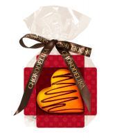 Шоколад белый Сердце апельсиновое, 30 гр, в пакете