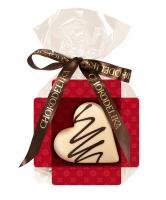 Шоколад белый Сердце ванильное, 30 гр, в пакете