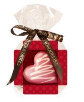 Шоколад белый Сердце малиновое, 30 гр, в пакете