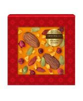 Шоколад белый с украшением Апельсин и годжи, 35 гр, в блистере