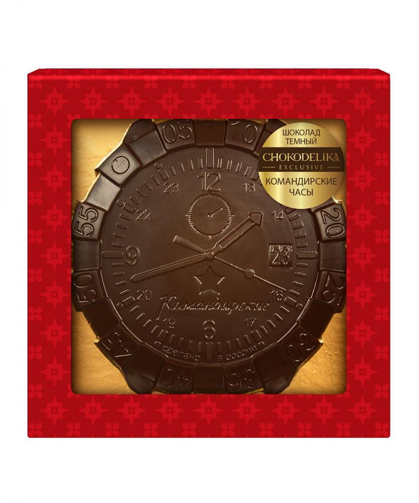 Темный шоколад Командирские часы, 40 гр,  в блистере