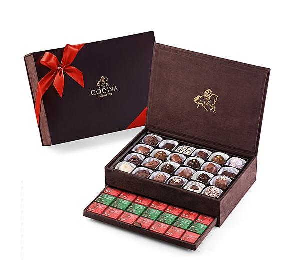 НАБОР (красная лента) большой 24 конфеты + 70 шоколадок - ассорти