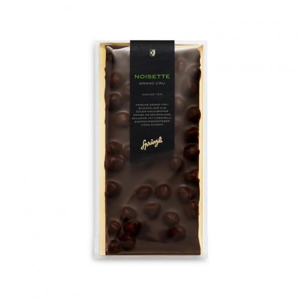 Шоколад горький 72% Grand Crue с фундуком SPRUNGLI, 175 гр