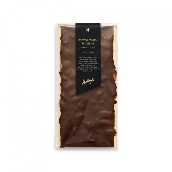 Шоколад темный 49% Grand Crue с миндаль, фисташка, изюм SPRUNGLI, 175 гр