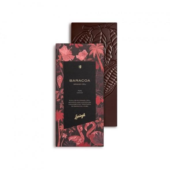 Шоколад горький 70% Grand Crue Baracoa SPRUNGLI, 100 гр