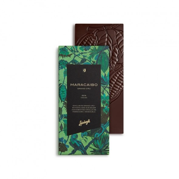 Шоколад горький 65% Grand Crue Maracaibo SPRUNGLI, 100 гр