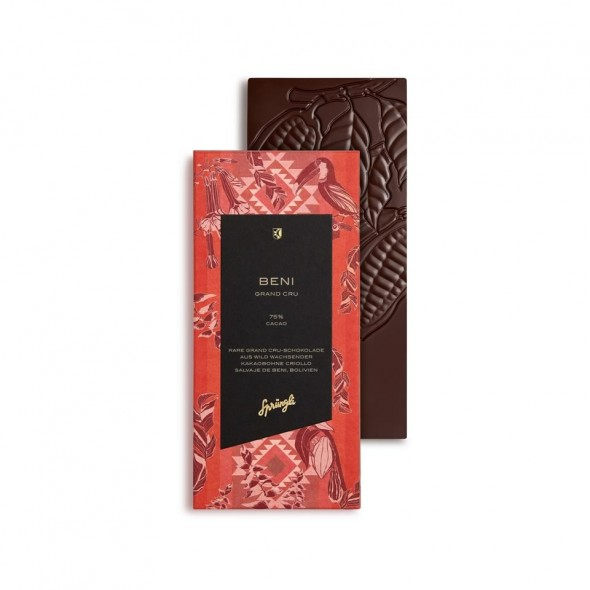Шоколад горький 75% Grand Crue Beni SPRUNGLI, 100 гр