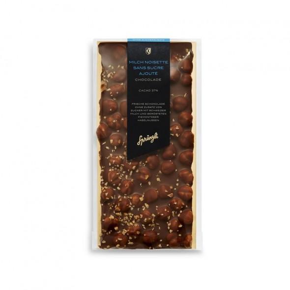 Шоколад молочный без сахара 37% фундук SPRUNGLI, 175 гр