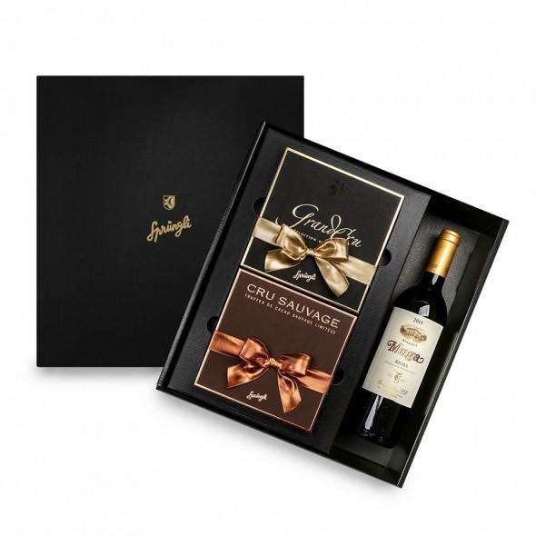 Набор пралине Grand Cru, трюфели Cru Sauvage, Muga Reserva красное вино, SPRUNGLI, 875 гр