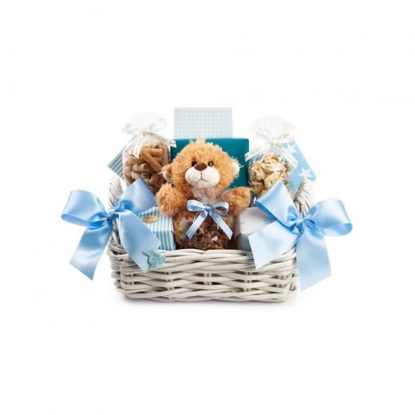 Детская корзина голубая SPRUNGLI, 1320 гр