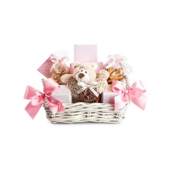 Детская корзина розовая SPRUNGLI, 1320 гр