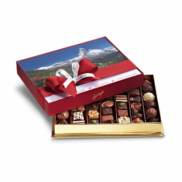 Шоколадные конфеты пралине, трюфели Bonbonniere Switzerland Summer 43шт SPRUNGLI, 510гр