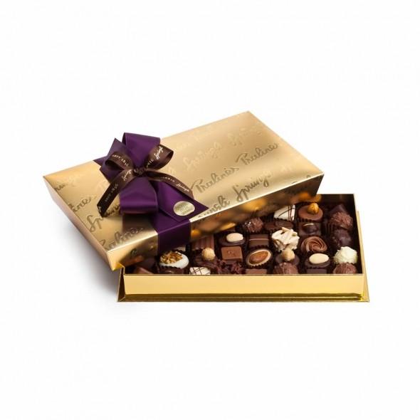 Шоколадные конфеты пралине, трюфели Bonbonniere Gold 40шт SPRUNGLI, 470гр