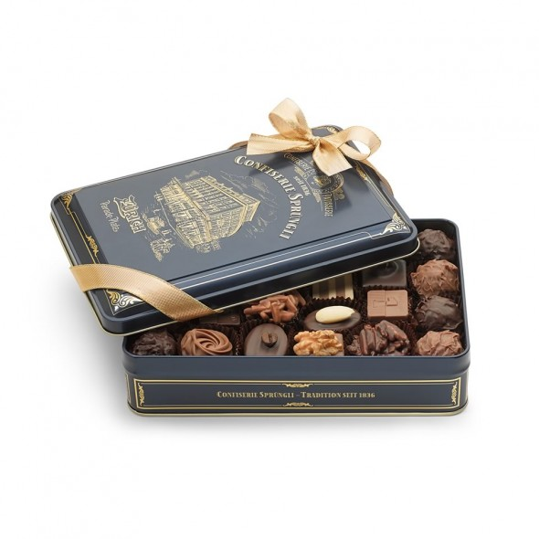 Шоколадные конфеты пралине, трюфели Sprungli House 24шт SPRUNGLI, 285гр