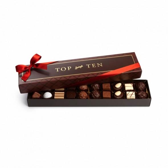 Шоколадные конфеты пралине, трюфели Top Ten 20шт, SPRUNGLI, 250гр