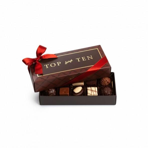 Шоколадные конфеты пралине, трюфели Top Ten 10шт, SPRUNGLI, 125гр