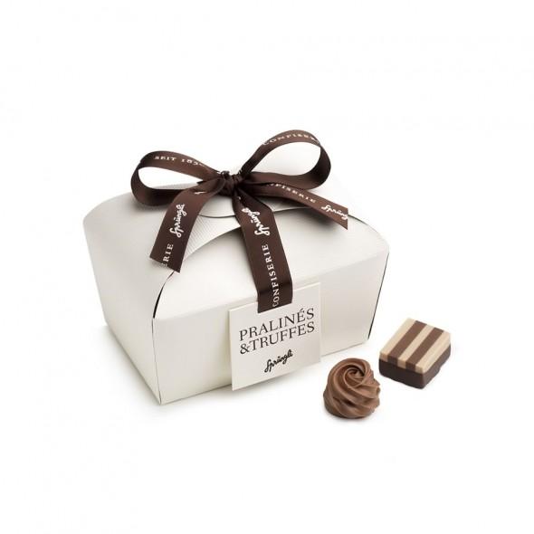 Шоколадные конфеты пралине, трюфели Praline Basket 28шт SPRUNGLI, 320гр