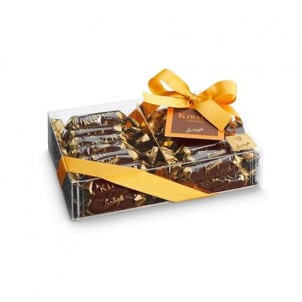 Шоколадные конфеты темный шоколад Kirsch-Stengeli 29шт SPRUNGLI, 240гр