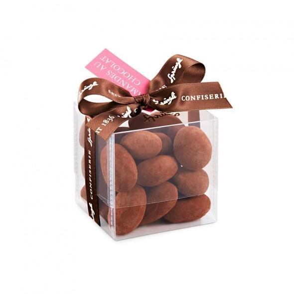 Миндаль в темном шоколаде и какао Amandes au Chocolate SPRUNGLI, 170гр