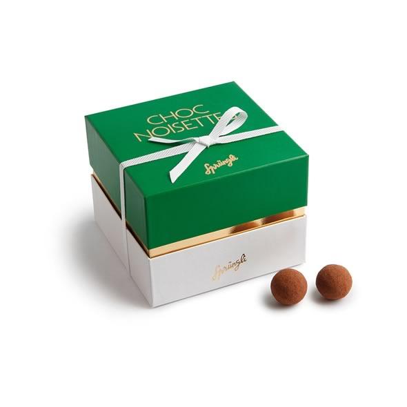 Фундук в темном шоколаде и какао Choc Noisettes SPRUNGLI, 250гр