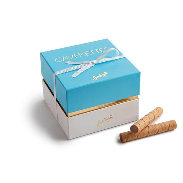 Вафельные трубочки шоколад, фундук Gaufrettes 33шт SPRUNGLI, 280гр