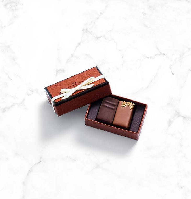 Шоколадные конфеты пралине Pralines Gift box 2шт LA MAISON, 14гр