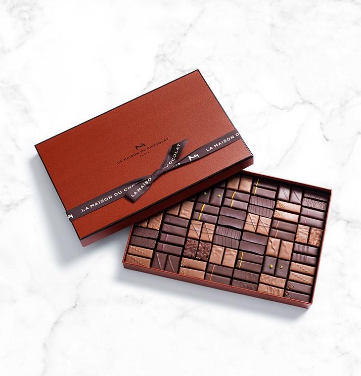 Шоколадные конфеты пралине, ганаш Coffret Maison Dark and Milk 84шт LA MAISON, 588гр