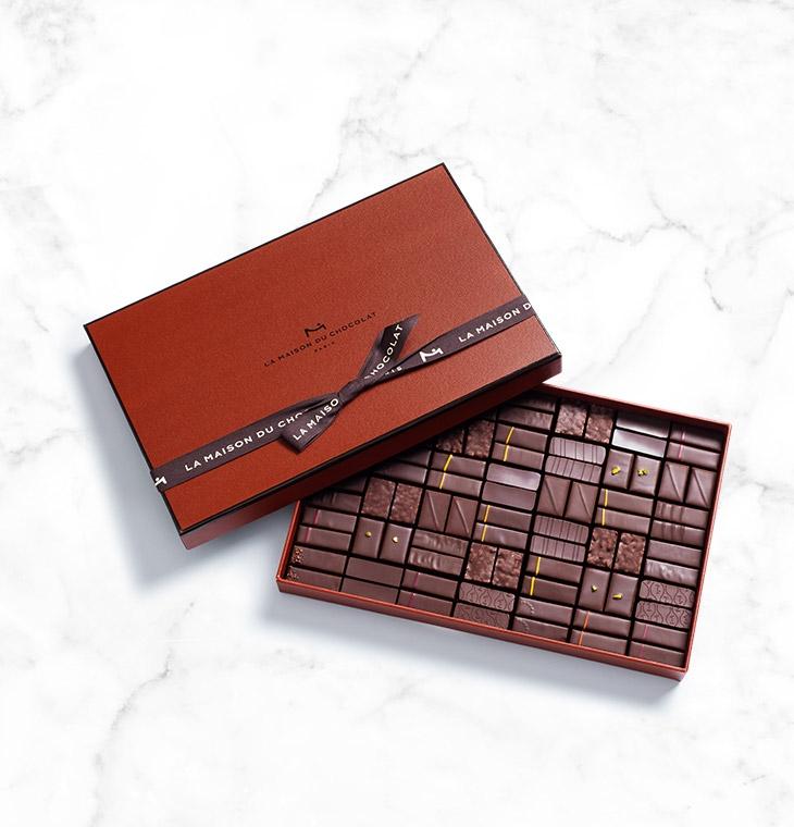 Шоколадные конфеты пралине, ганаш Coffret Maison Dark 84шт LA MAISON, 588гр