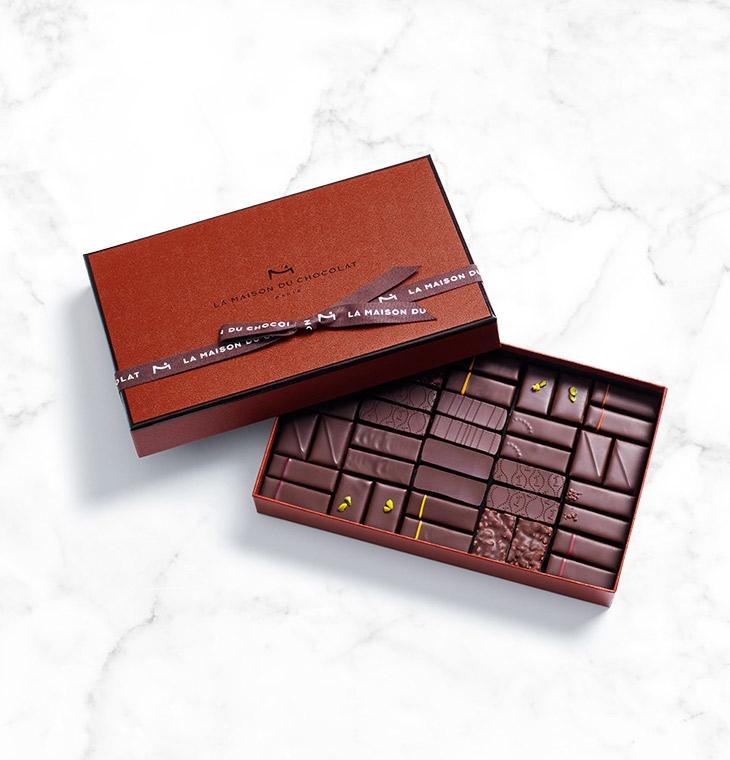 Шоколадные конфеты пралине, ганаш Coffret Maison Dark 40шт LA MAISON, 275гр