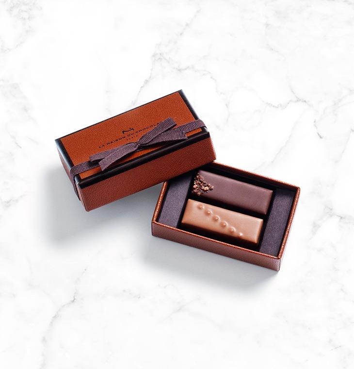 Шоколадные конфеты ганаш Gesture Gift Box 2шт LA MAISON, 13гр