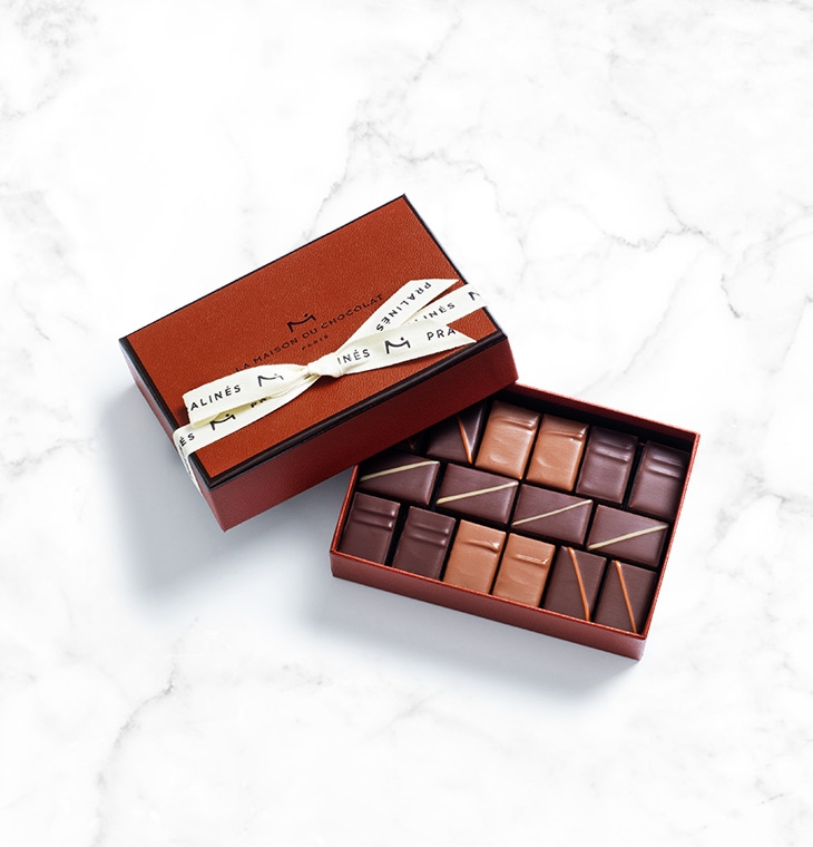 Шоколадные конфеты пралине Pralins Gift box 16шт LA MAISON, 116гр