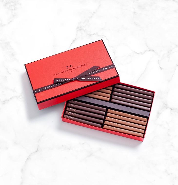 Шоколадные конфеты пралине Twigs Gift Box 20шт LA MAISON, 155гр