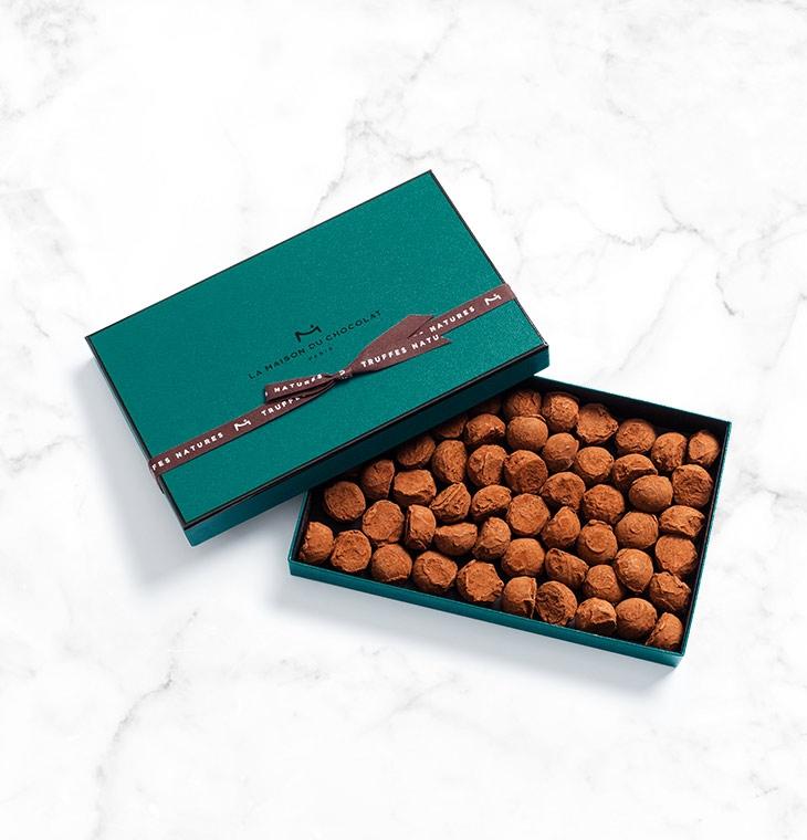 Шоколадные конфеты трюфели Plain Truffles 58шт LA MAISON, 400гр