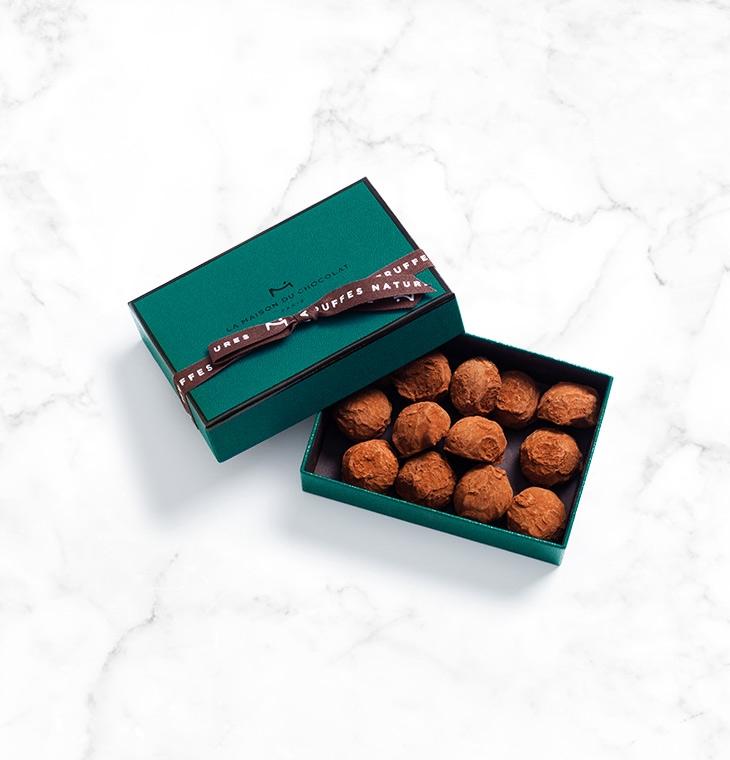 Шоколадные конфеты трюфели Plain Truffles 13шт LA MAISON, 90гр