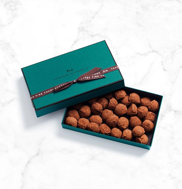 Шоколадные конфеты трюфели Fine Champagne Truffles 34шт LA MAISON, 245гр