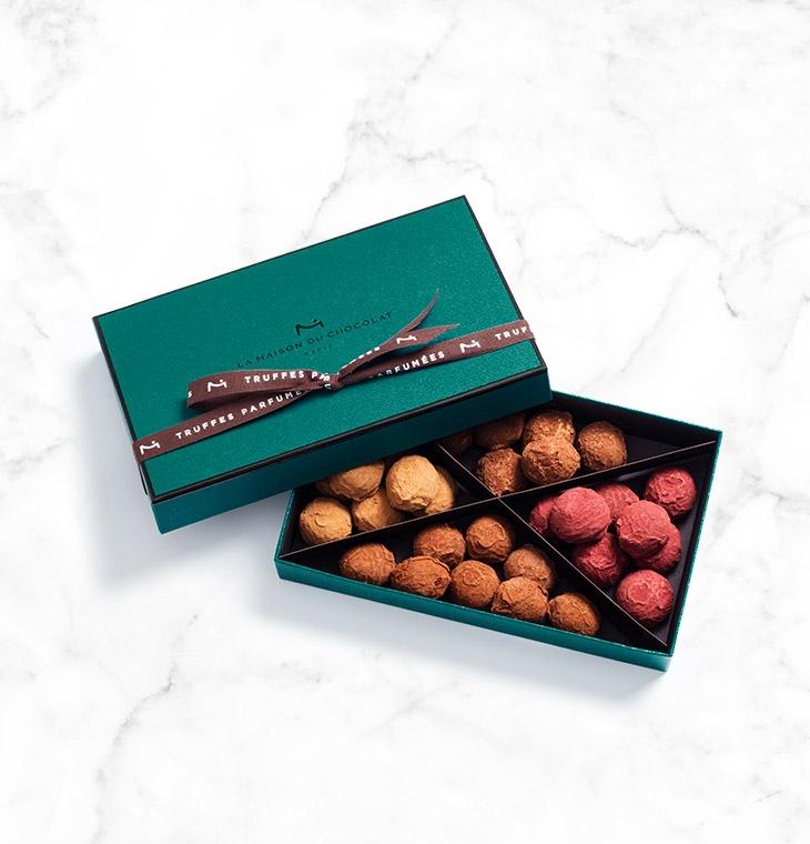 Шоколадные конфеты трюфели Plain Cassis Caramel Truffles 34шт LA MAISON, 245гр