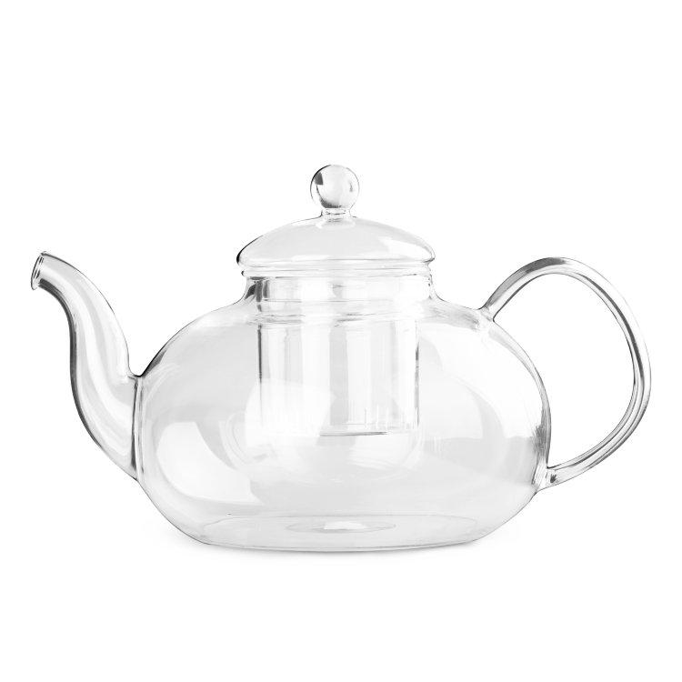 Чайник для варки из жаропрочного стекла Смородина (с металлизированным дном и заварочной колбой), 1500 мл