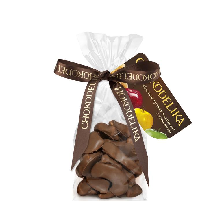 Яблочные кусочки в шоколаде