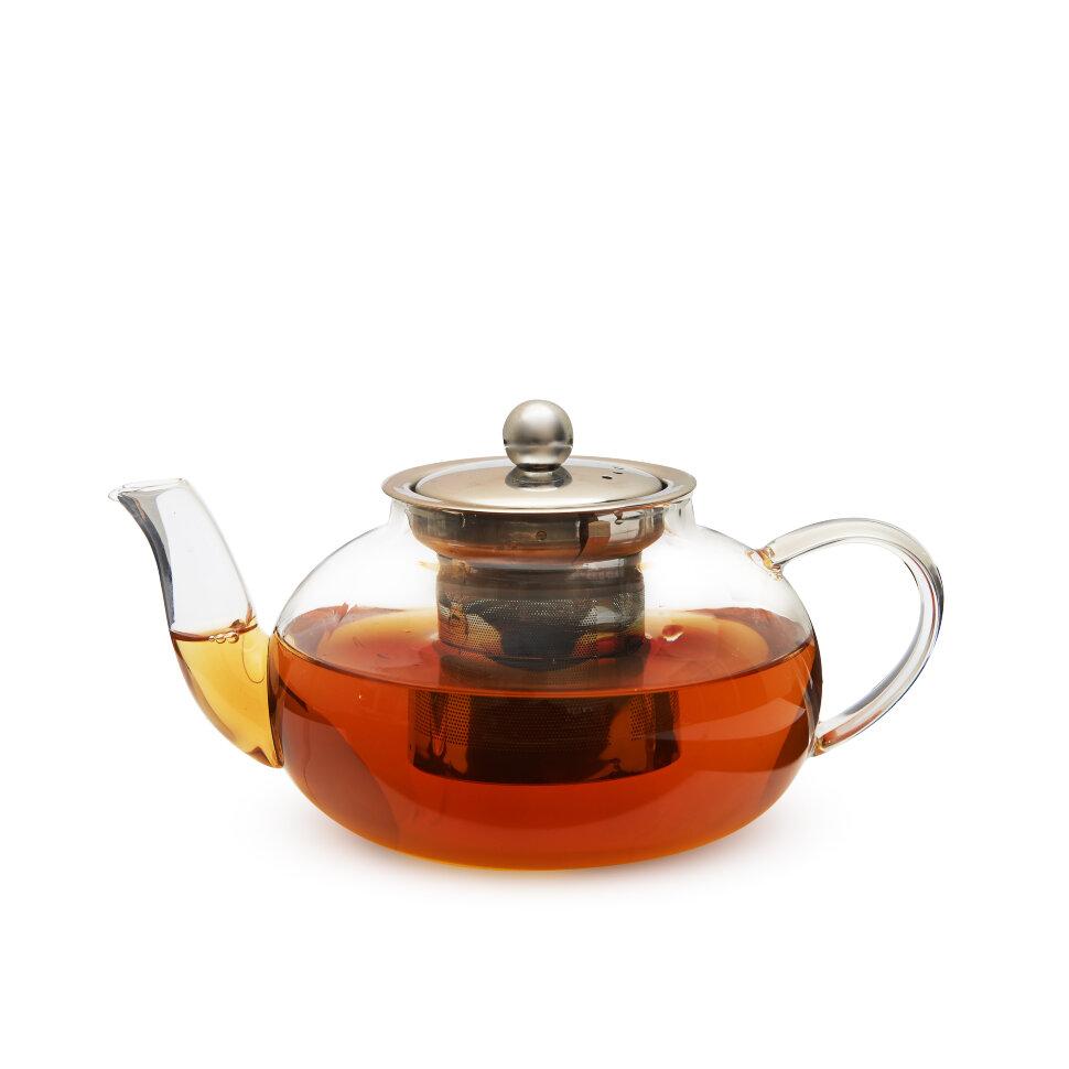 """Чайник из жаропрочного стекла """"Лондон"""" с заварочной колбой из металла, 800 мл"""