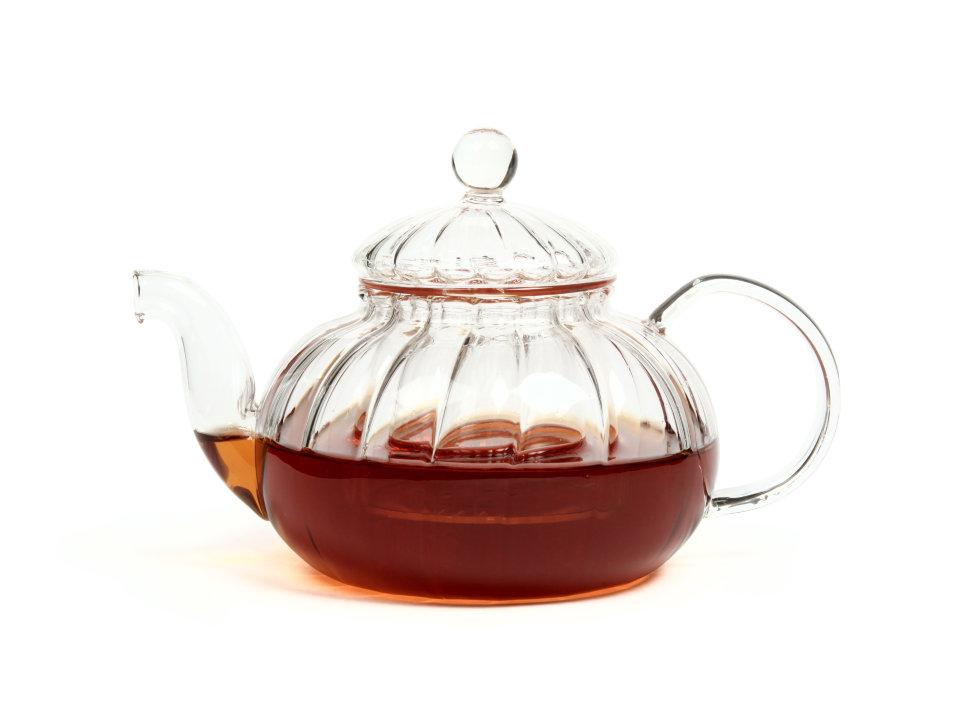 """Чайник из жаропрочного стекла """"Лотос"""" с заварочной колбой, 600 мл"""