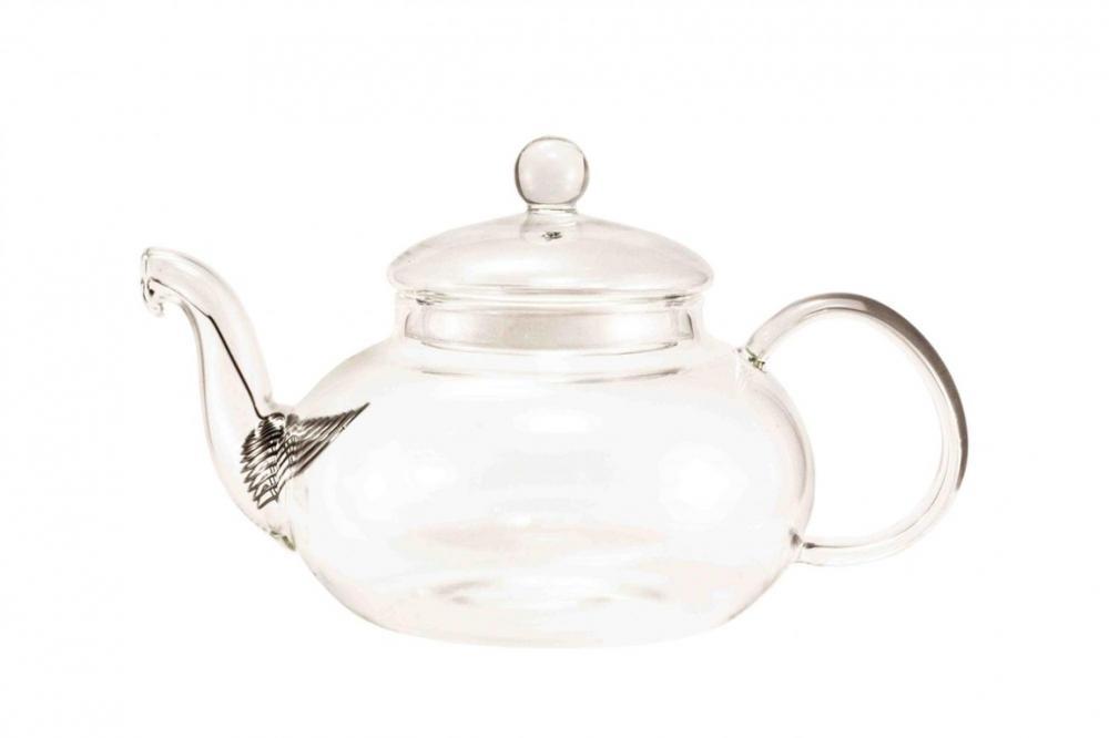 Стеклянный чайник Астильба (силиконовый уплотнитель, пружинка фильтр), 800мл