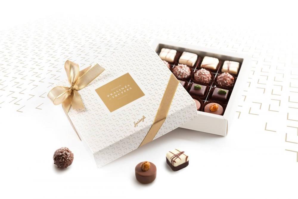 Шоколадные конфеты пралине, трюфели на выбор Sélection de Pralinés and Truffles SPRUNGLI, 175гр