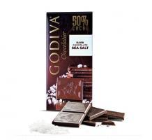 Шоколад темный 50% (морская соль) GODIVA, 100 гр