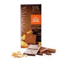 Шоколад молочный 31% (соленая карамель) GODIVA, 100 гр
