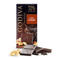 Шоколад темный 72% (миндаль) GODIVA, 100 гр